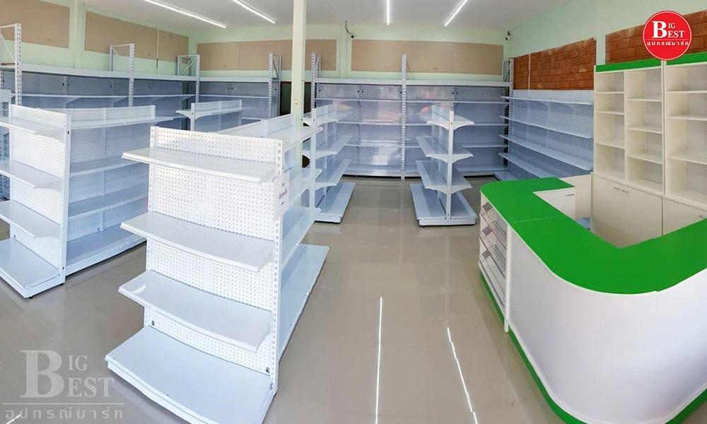 ร้านขายของชำธีมสีเขียว-ขาว