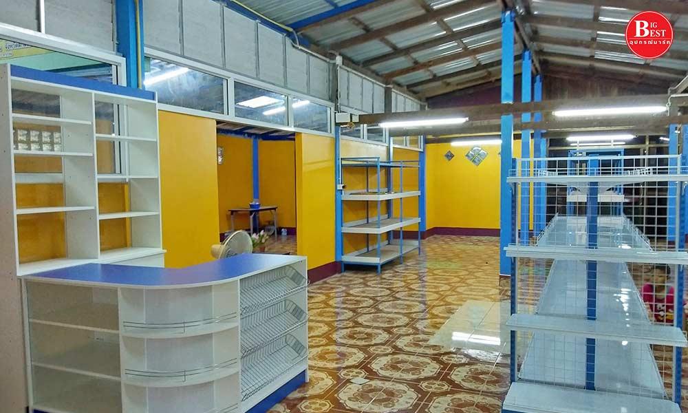 ร้านขายของชำโทนสีน้ำเงิน-เหลือง