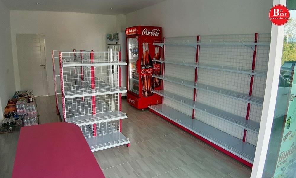ร้านขายของชำธีมสีแดง-ชมพู