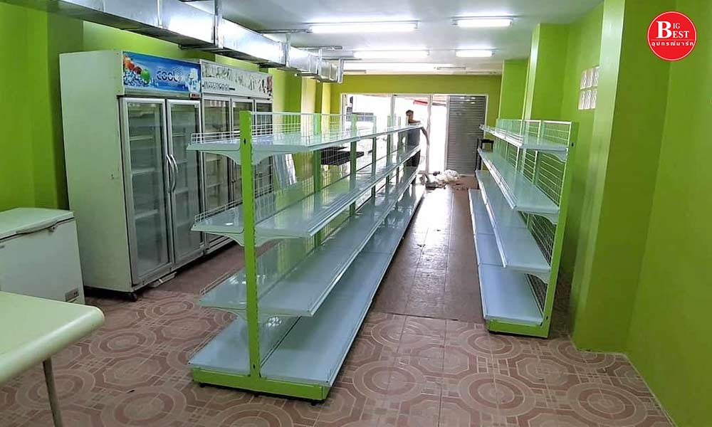 Lime green tone grocery store