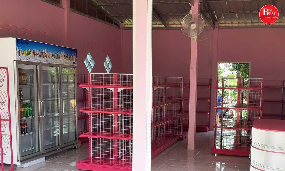 ร้านขายของชำโทนสีชมพู
