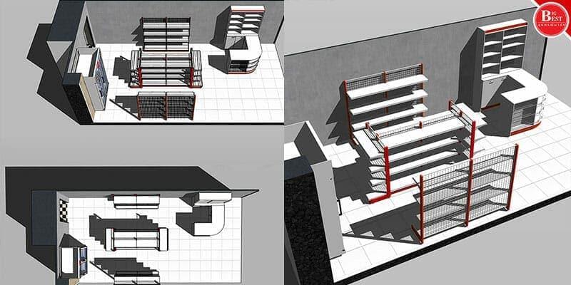 ออกแบบร้านค้าปลีก 3D